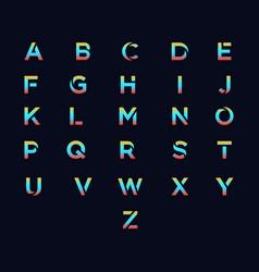 alphabet template vector image