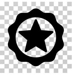 Award star seal icon vector