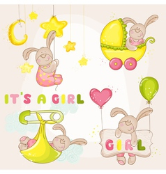 Baby bunny set - for shower vector