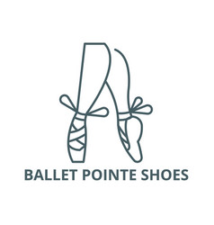 ballet pointe shoes line icon ballet vector image