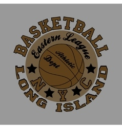 basketball fashion Typography sport vector image