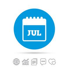 Calendar sign icon july month symbol vector