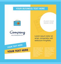 Camera company brochure template busienss template vector