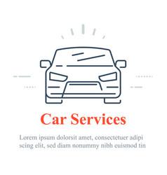 car icon auto services concept vector image