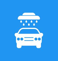 car wash sign icon vector image