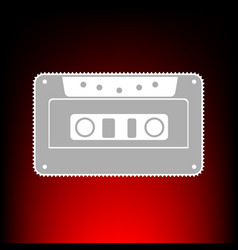 cassette icon audio tape vector image