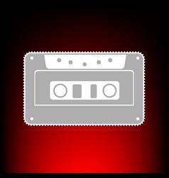 cassette icon audio tape vector image