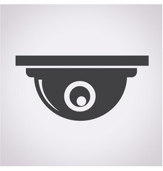 cctv camera icon vector image