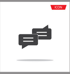 chat icon conversation symbols isolated on white vector image