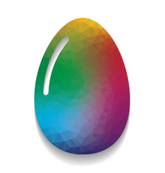 chicken egg sign colorful icon with vector image