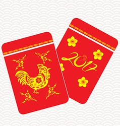 Chinese New Year rooster Packets Best Luck Ahead vector
