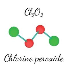 Cl2O2 chlorine peroxide molecule vector