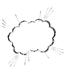 Cloud comic speech chat sketch vector