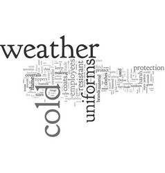 cold weather work uniforms vector image