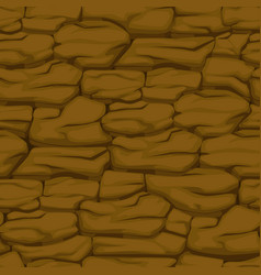 Cracked pattern of brown earth seamless soil vector