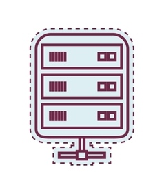 Data center disk isolated icon vector