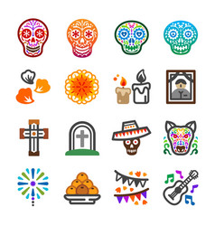 day of the dead icon vector image