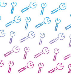 degraded line wrench equipment industry repair vector image