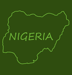 detailed nigeria map vector image