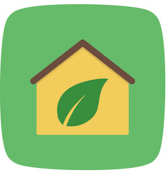 eco home icon vector image