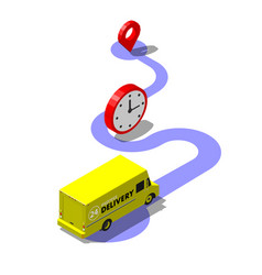 Express delivery service concept package tracking vector