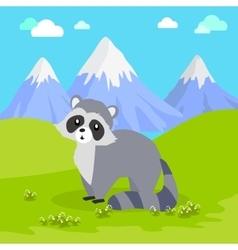 Funny Raccoon vector