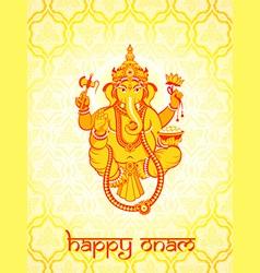 Ganesha postcard vector