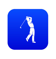 golf player icon digital blue vector image
