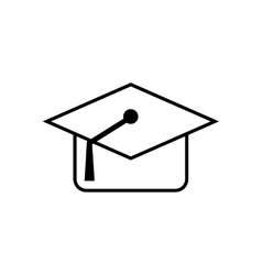 Graduation cap school education icon vector