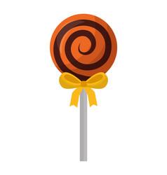 halloween sweet lollipop isolated icon vector image