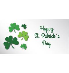 happy saint patrick day congratulation card vector image