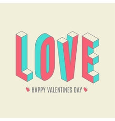 Happy Valentines day card i love you vector image