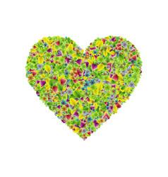 Heartshape symbol consisting colorful fresh vector