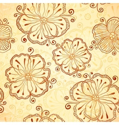 Henna colors flowers seamless pattern vector