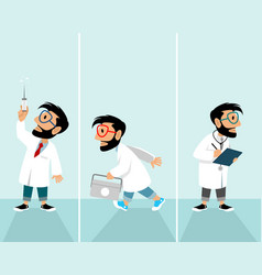 hipster in medical situations vector image