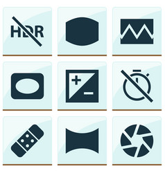 Image icons set includes icons such as mode vector