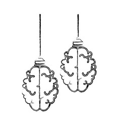 isolated abstract brain icon vector image