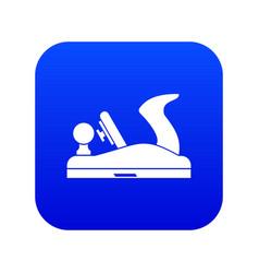 Jack plane icon digital blue vector