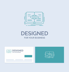 knowledge book eye view growth business logo line vector image