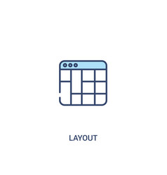 Layout concept 2 colored icon simple line element vector