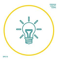 light bulb - new ideas line icon graphic vector image