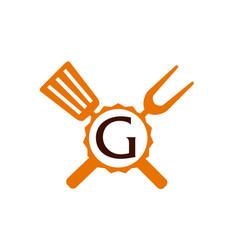 Logo restaurant letter g vector