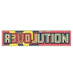Love revolution vector
