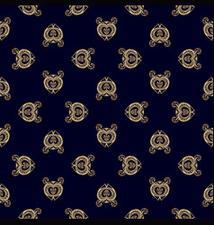 luxury golden royal pattern vector image