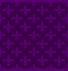 mardi gras fleur de lis seamless pattern vector image