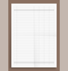 Mockup crumpled standart blank acounting sheet vector