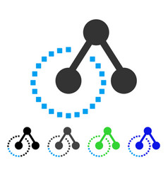Molecule structure flat icon vector