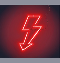 neon sign lightning lightning vector image