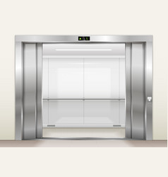 Open the elevator doors vector