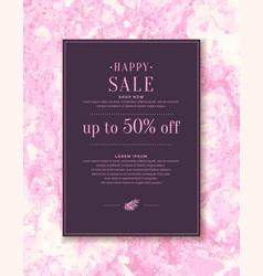 original concept discount sale poster sale vector image